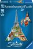 Ravensburger Casse-tête 960 silhouette Tour Eiffel, Paris, France 4005556161522