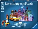 Ravensburger Casse-tête 1158 silhouette Ville de New York, États-Unis 4005556161539