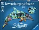 Ravensburger Casse-tête 862 silhouette Dauphin 4005556161546