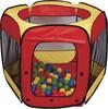 Paradiso Toys Tente et 100 balles avec sac, pour piscine à balles 5425000338949