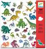 Djeco Autocollants Dinosaures (fr/en) 3070900088436