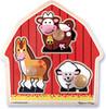 Melissa & Doug Casse-tête gros boutons animaux de basse-cour en bois Melissa & Doug 2054 000772120548
