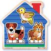 Melissa & Doug Casse-tête gros boutons animaux de compagnie en bois Melissa & Doug 2055 000772120555