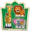 Melissa & Doug Casse-tête gros boutons amis de la jungle en bois Melissa & Doug 3375 000772033756