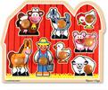 Melissa & Doug Casse-tête gros boutons amis de la ferme en bois Melissa & Doug 3391 000772133913