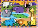 Melissa & Doug Casse-tête grosses pièces animaux de safari en bois Melissa & Doug 3722 000772137225
