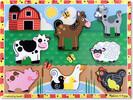 Melissa & Doug Casse-tête grosses pièces animaux de ferme en bois Melissa & Doug 3723 000772137232