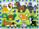 Melissa & Doug Casse-tête grosses pièces animaux de compagnie en bois Melissa & Doug 3724 000772137249