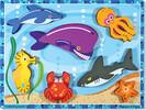 Melissa & Doug Casse-tête grosses pièces animaux marins en bois Melissa & Doug 3728 000772137287