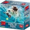 Imports Dragon Casse-tête 3D Puzzle 3d animal motion 150pcs chien beige 670889108663