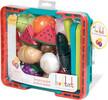 Battat Panier de fruits à velcro 37pcs, turquoise et orange (Farmers Market Produce Basket) 062243334441