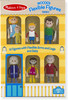 "Melissa & Doug Ensemble de figurines flexibles en bois famille 4.5"" Melissa & Doug 2470 000772024709"