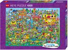 Heye Casse-tête 1000 Doodle Village, Burgerman 4001689299361