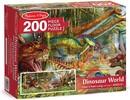 """Melissa & Doug Casse-tête plancher 200 le monde des dinosaures 50x18"""" Melissa & Doug 8908 000772189088"""
