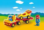 Playmobil Playmobil 6761 1.2.3 Voiture de course avec camion de transport 4008789067616