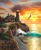 SunsOut Casse-tête 1000 La crête aux pygargues à tête blanche et le phare, aigles (Eagle ridge) SunsOut 66034 796780660342