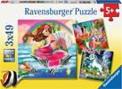 Ravensburger Casse-tête 49x3 Mondes enchantés 4005556093670