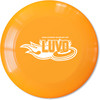 Ligue Ultimate Vallée-de-l'Or (LUVO) Frisbee disque Ultimate 140g orange logo LUVO blanc