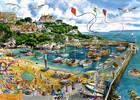 Falcon de luxe Casse-tête 1000 Le port de Newquay, Angleterre, Royaume-Uni (Newquay Harbour) 8710126112908