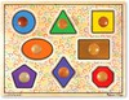 Melissa & Doug Casse-tête gros boutons formes géométriques en bois Melissa & Doug 3390 000772133906