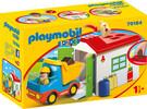 Playmobil Playmobil 70184 1.2.3 Ouvrier avec camion et garage 4008789701848