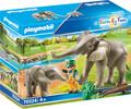 Playmobil Playmobil 70324 Elephants et soigneur (mai 2021) 4008789703248