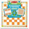 """Melissa & Doug Backgammon / jacquet et jeu de dames en bois 17.5x17.5"""" Melissa & Doug 30380 000772303804"""
