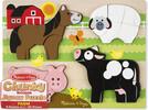 Melissa & Doug Casse-tête grosses pièces animaux de la ferme en bois Melissa & Doug 1891 000772118910