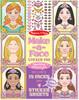 Melissa & Doug Bloc d'autocollants créer des visages de princesses Melissa & Doug 9433 000772094337