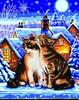 Diamond Dotz Broderie diamant Chats et nuit d'hiver (Stars and Whiskers) Diamond Dotz (Diamond Painting, peinture diamant) 4897073242378