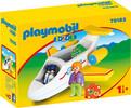 Playmobil Playmobil 70185 1.2.3 Avion avec pilote et vacancière 4008789701855