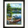 """Dimensions PaintWorks Peinture à numéro Canoë au bord du lac 14x20"""" 91446 088677914462"""