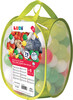 LUDI Balles de plastique vertes (75) avec sac refermable, pour piscine à balles 3550833300237