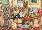 Falcon de luxe Casse-tête 1000 Rassemblement de chiens sur le canapé (Gathering on the Couch) 8710126112939