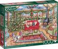 Falcon de luxe Casse-tête 1000 Christmas Conservatory - Debbie Cook 8710126112755