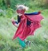 Creative Education Costume cape araignée rouge avec masque et bracelets, grandeur 5-6 771877532726