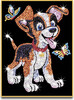 Sequin Paillette Sequin Art chien Oscar (paillettes) 5013634009078