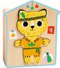 Djeco Casse-tête Animaux à habiller en bois, vêtements 3070900016781