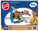 HEROS HEROS Constructor Avion, 40 pièces en bois 4051902390139