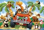 Ravensburger Casse-tête plancher 24 Jeep safari 4005556054015