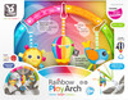 BenBat Arche d'activités arc-en-ciel pour poussette/siège de bébé 7290135001512