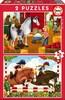 Educa Borras Casse-tête 48x2 chevaux 8412668171503
