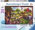 Ravensburger Casse-tête plancher 24 Les animaux de la ferme Bell 4005556055586