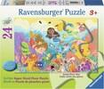 Ravensburger Casse-tête plancher 24 Le barbotage des sirènes 4005556055593
