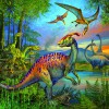 Ravensburger Casse-tête 49x3 dinosaures 4005556093175