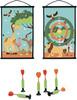 Scratch Scratch jeu de dards/fléchettes à ventouse double-face Safari 5414561820543