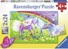 Ravensburger Casse-tête 24x2 chevaux et papillons 4005556091935
