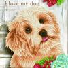 Diamond Dotz Broderie diamant J'aime mon chien (I love my dog) Diamond Dotz (Diamond Painting, peinture diamant) 4897073246123
