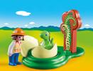 Playmobil Playmobil 9121 1.2.3 Exploratrice et bébé dinosaure 4008789091215