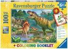 Ravensburger Casse-tête 100 XXL Le monde des dinosaures et livre de coloriage 4005556136957